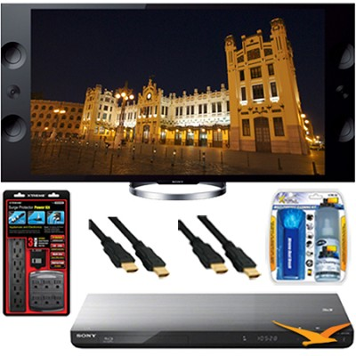 XBR-55X900A 55` 4K Ultra HDTV with 4K Upscaling Blu-ray Player and Hookup Bundle