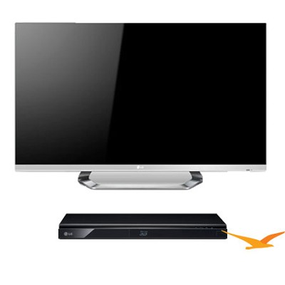 55LM6700 55` Cinema 3D 1080p 120Hz LED TV with 6 Glasses + 3D Wifi BluRay Player