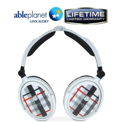Extreme Noise Cancelling Foldable Headphones (White)