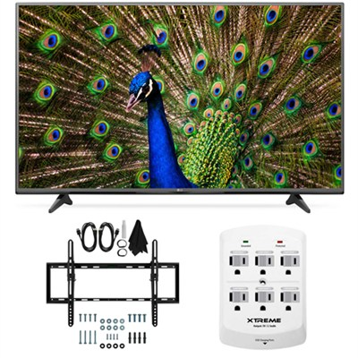 43UF6400 - 43-inch 120Hz 4K Ultra HD Smart LED TV Flat & Tilt Wall Mount Bundle