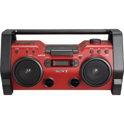 Heavy Duty CD Radio Boombox Water and Dust Resistant - OPEN BOX