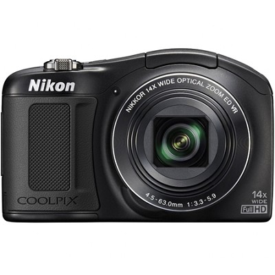 COOLPIX L620 18.1 MP Digital Camera with 14x Zoom & 1080p - Factory Refurbished