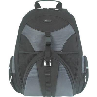 TSB007US 15.4` Notebook Case Sport Backpack (Black with Platinum Accent)
