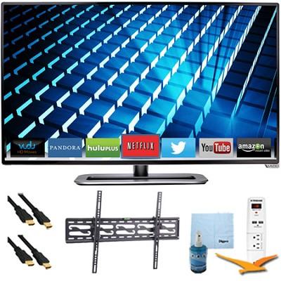 M322i-B1 - 32` Ultra-Slim LED 1080p 120Hz Smart HDTV Tilt Mount & Hook-Up Bundle