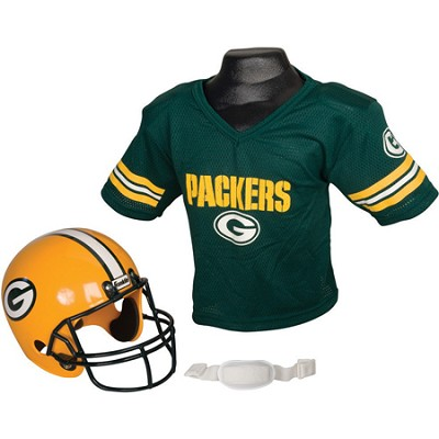 Youth NFL Green Bay Packers Helmet and Jersey Set, Medium