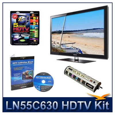 LN55C630 - 55` LCD HDTV + Hook-Up + Power Protection + Calibration DVD