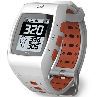 WT5 Golf GPS Watch, White/Orange