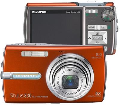 Stylus 830 Digital Camera (Orange)