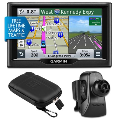 nuvi 58LMT 5` Essential Series 2015 GPS w Maps/ Traffic Vent Mount & Case Bundle