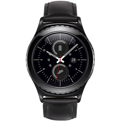 Gear S2 Bluetooth/Wifi Smartwatch w/ HRM (Classic w/ Black Leather Band)