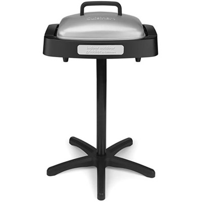 Indoor/Outdoor Grill with Reversible Nonstick Grill & Griddle Cooking Plate