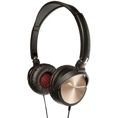 SE-MJ71-G - Steel Wheels On Ear DJ Inspired Stereo Headphones