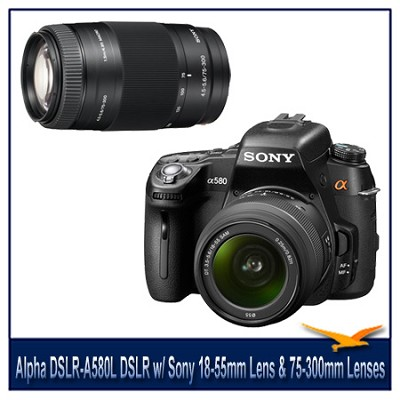 buydig.com sony alpha dslr a580l 16.2 mp dslr camera w