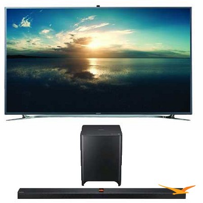 UN55F9000 55-Inch 4K Ultra HD 120Hz 3D Smart TV+ HW-F850 Soundbar Bundle