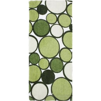 Printed Geometric Kitchen Towel - Sage