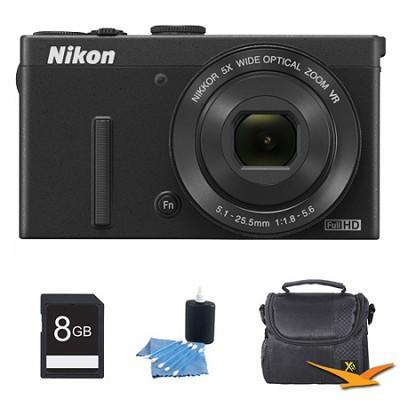 COOLPIX P340 12.2MP 1080p HD Video 5x Zoom Digital Camera Black Kit