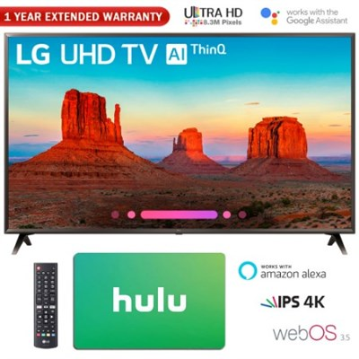 55` 4K HDR Smart LED AI UHD TV w/ThinQ + Gift Card & Extended Warranty Pack