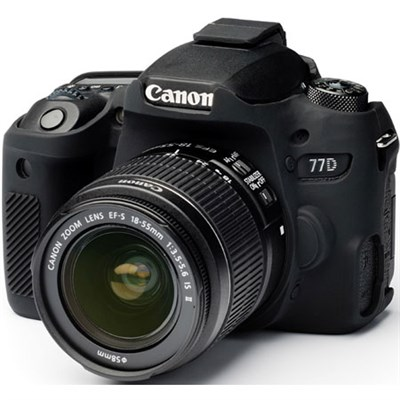 Silicone Protection Camera Cover/Case for Canon EOS 77D (Black) EA-ECC5D4B