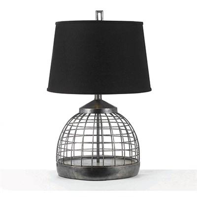 Industrial Grid Table Lamp 1-150W 3 Way Standard Bulb 28 HX18 D