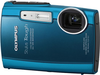 Stylus Tough 3000 Waterproof Shockproof Freezeproof Digital Camera (Blue)