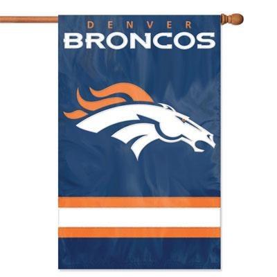 Broncos Applique Banner Flag