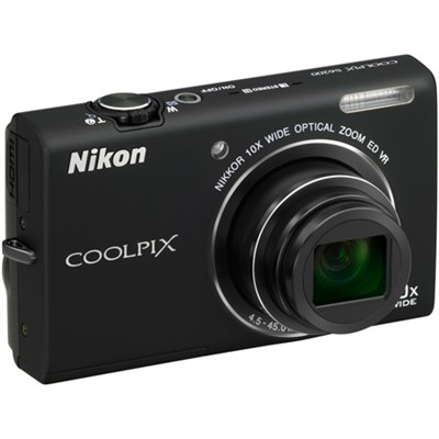 COOLPIX S6200 10x Zoom 16MP Digital Camera (Black) - Factory Refurbished