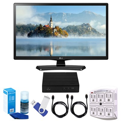 24`-Class HD 720p LED TV (2017 Model) + Terk HD TV Tuner 16GB Hook-Up Bundle