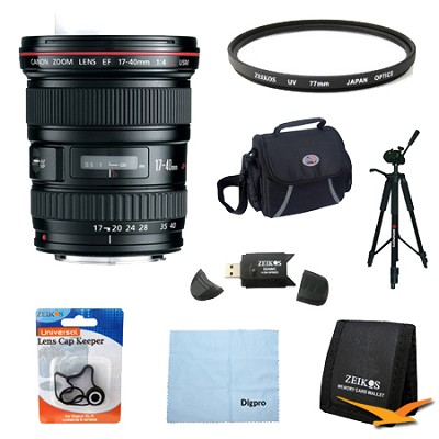 EF 17-40mm F/4 L USM Lens Exclusive Pro Kit
