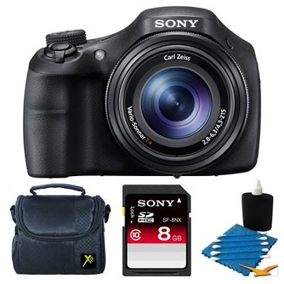 DSC-HX300/B Black Digital Camera 8GB Bundle