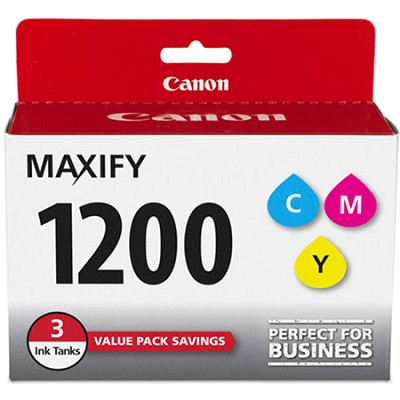 MAXIFY PGI-1200 CMY (Cyan, Magenta, Yellow) 3 Ink Value Pack