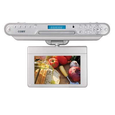 10` TFT Under the Kitchen Counter DVD Player with Digital ATSC TV Tuner