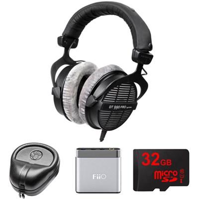 Professional Acoustically Open Headphones - 250 Ohms w/ FiiO Amp. Bundle