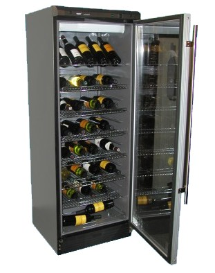 102 bottle  Wine Cellar -Black/Silver trim