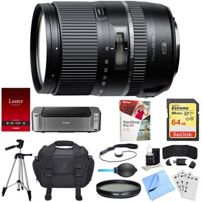 16-300mm f/3.5-6.3 Di II VC PZD MACRO Lens for Nikon Dual Mail in Rebate Bundle