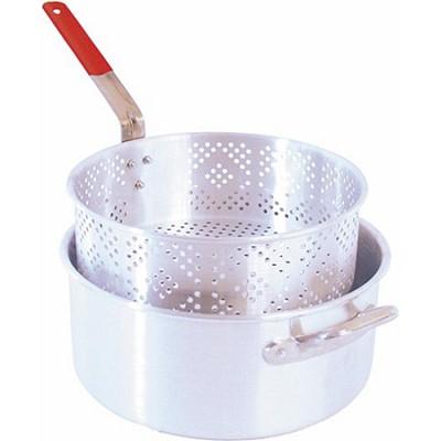 10.5-Quart Aluminum Pot and Deep-Frying Basket