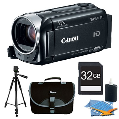 VIXIA HF R42 HD 53x Image Stabilized Opt Zoom Camcorder with 32GB Bundle