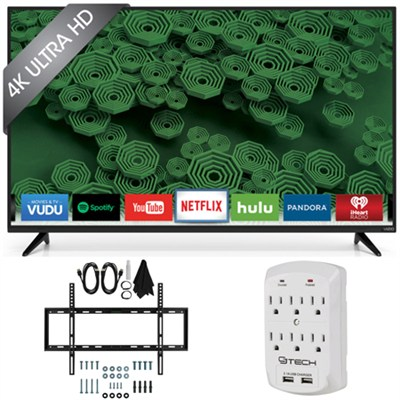 D50u-D1 D-Series - 50-Inch 120Hz 4K Ultra HD LED Smart HDTV Wall Mount Bundle