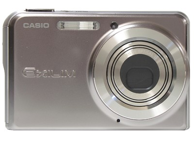 EX-S770 7 MP with 3X Optical Zoom and 2.8`  LCD (Sparkle Silver)- Refurbished