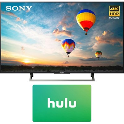 43` 4K HDR UHD Smart LED TV (2017 Model) w/ Hulu $25 Gift Card
