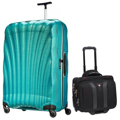 33` Black Label Cosmolite Spinner (Emerald Green) + Wenger Laptop Boarding Bag