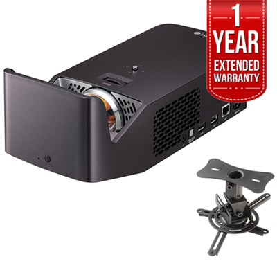 Ultra Short Throw Smart Home Theater Projector w/ Extended Warranty Bundle