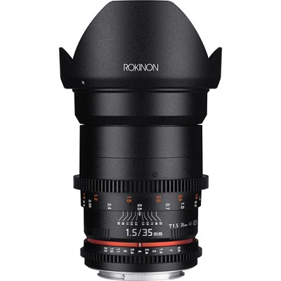 DS 35mm T1.5 Full Frame Wide Angle Cine Lens for Canon EF Mount