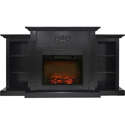 72.3 x15 x33.7  Sanoma Fireplace Mantel with Logs Insert