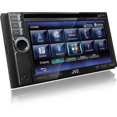 Bluetooth Enabled In-Dash Double DIN Audio Video Reciever Touch Screen KWNSX600