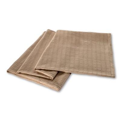 All Season Luxurious 100 Percent Cotton Blanket Full/Queen, Khaki - OPEN BOX