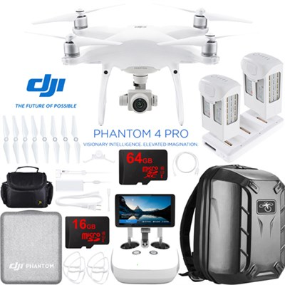 Phantom 4 Pro Plus Quadcopter Drone + Extra Battery; Charging Hub & Backpack
