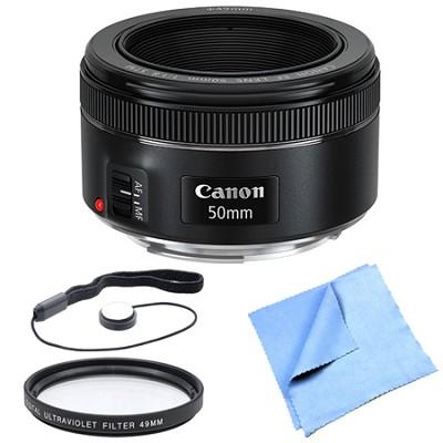 EF 50mm f/1.8 STM Prime Lens Bundle