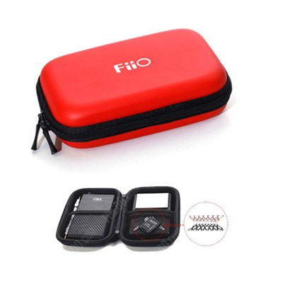 Hard carrying case for all portable FiiO players, amps, DACs - Red - (HS7RED)