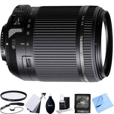 18-200mm Di II VC All-In-One Zoom Lens for Nikon Mount w/ Accessory Bundle