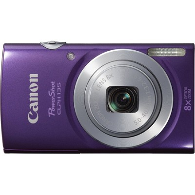 PowerShot ELPH 135 16MP 8x Optical Zoom Digital Camera - Purple